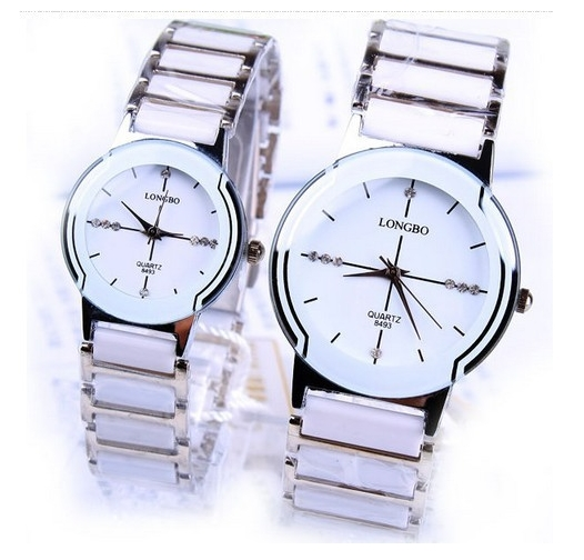 Lonbo Brand Classic Quartz Lovers Woman Man Rhinestone  Watches Ceramic Waterproof Watch Gift Top Quality Luxury Wristwatches