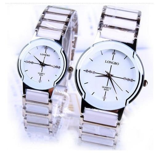 Lonbo Brand Classic Quartz Lovers Woman Man Rhinestone  Watches Ceramic Waterproof Watch Gift Top Quality Luxury Wristwatches