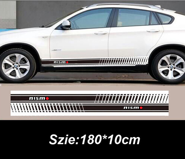 2pcs Nismo Car Side Body Sticker Car Exterior Decoration Sticker For