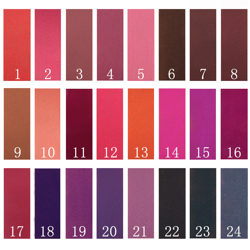 NEW 24 Colors Long Lasting Metallic Lip Gloss Red Velvet Matte Nude Liquid Lipstick Cosmetic Lips Makeup Women Gift Maquiagem 3