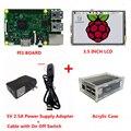Raspberry Pi 3 Модель B + 3.5 дюймов Сенсорный ЖК-Экран + 5 В 2.5A Питания (ЕС и США)