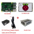 Raspberry Pi 3 Model B Board + 3.5 inch LCD Touch Screen + 5V 2.5A Power Supply(EU&US)