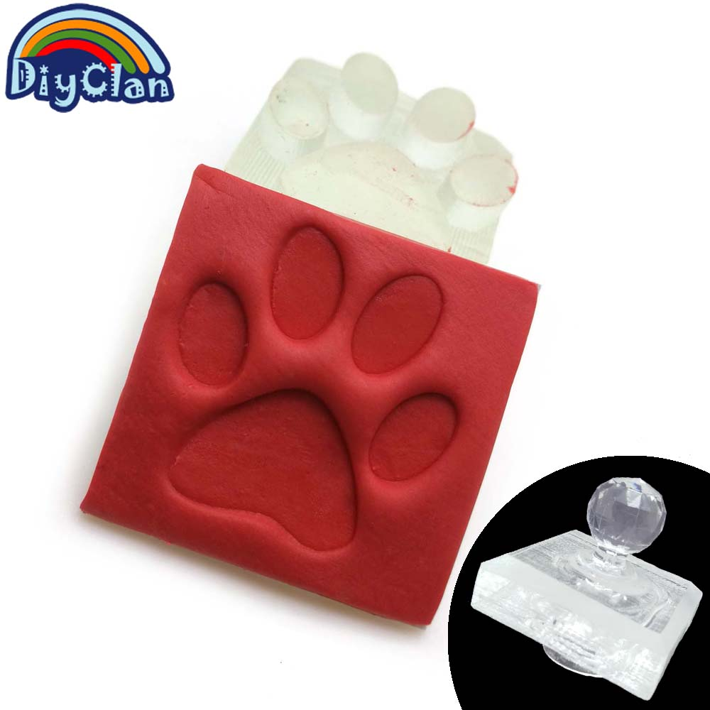 Handmade Dog printed soap stamp diy footprint natural soap resin stamp Acrylic crystal Transparent seal for soap Z0116JY