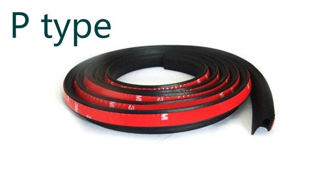 5M P type car sound insulation seal sealing rubber strip sealing Noise Weather Rubber car door seal