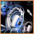Sades A8 Fones De Ouvido Jogo de Computador fone de Ouvido USB 7.1 Surround Sound Gaming Profissional Vibração Respiração Auriculares do DIODO EMISSOR de Luz