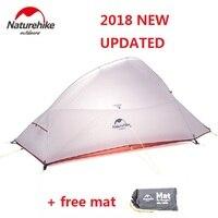 Naturehike 2018 nova nuvem até 2 versão atualizada ao ar livre 2 pessoa ultraleve barraca de acampamento pé livre Barracas     -