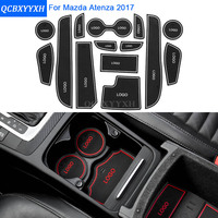 14Pcs/Set For Mazda Atenza 2017 Car Styling Slot Pad Interior Door Groove Mat Latex Anti-Slip Cushion Car Internal Dedicated