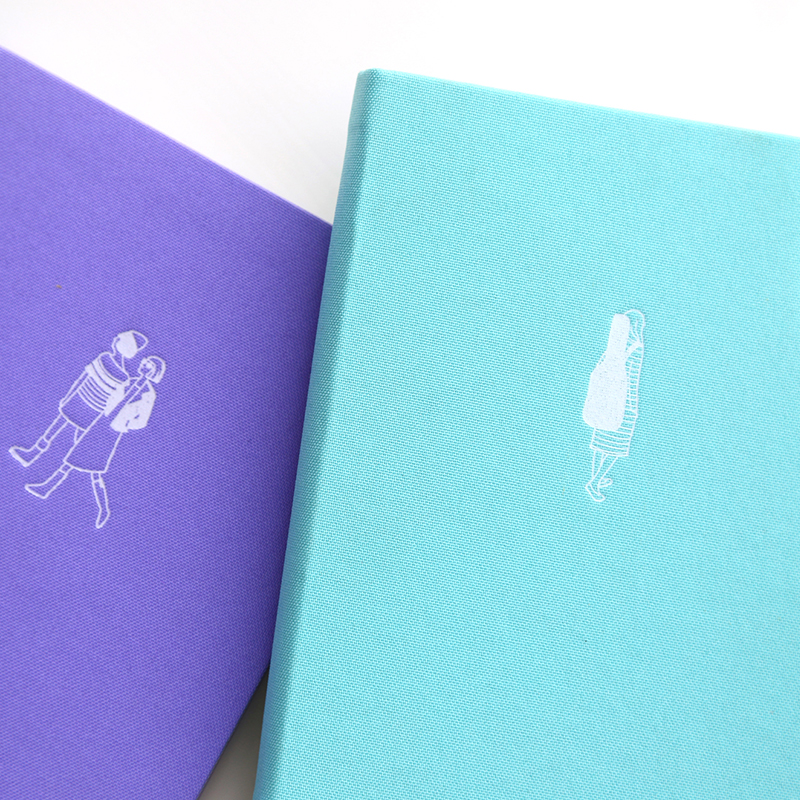joytop notebook a5 h5 hardcover clear elegant stationery cloth solid