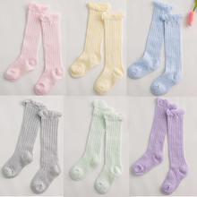 Baby Girl Socks 0 2 Year Toddler Baby Cotton Mesh Breathable Socks Newborn Infant Baby Boy Pure cotton Summer High knee Socks