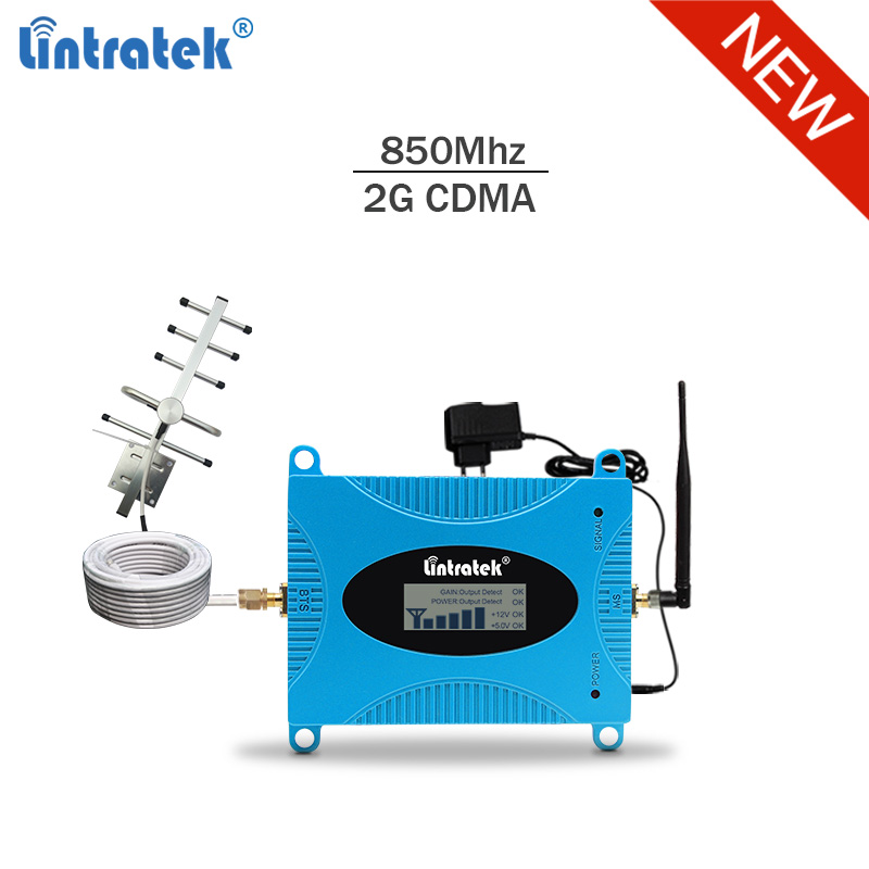 Lintratek Signal Booster 850Mhz 3G Repeater 850Mhz GSM 3G Amplifier Band 5 Amplificador GSM 2G Mobile