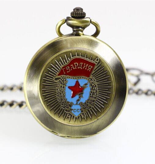 20pcs/lot DHL Antique Mechanical Hand-Winding Russia Style Pocket Watch Necklace Chain Gift For Men Women цена и фото