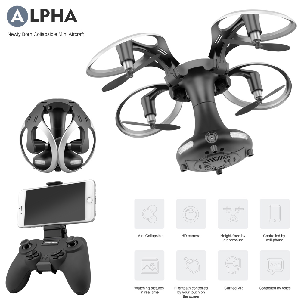 Utoghter 69108 Foldable Collapsible Egg Drone 2.4G Selfie Drone RC Quadcopter Drone w/ 0.3MP Wifi FPV Altitude Hold 3D Flips RTF