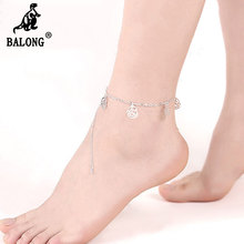 Hollow Flower Ankle Bracelet Silver Plated Foot Bracelet Jewelry for Women Silver Chain Charm Bracelet for Girls