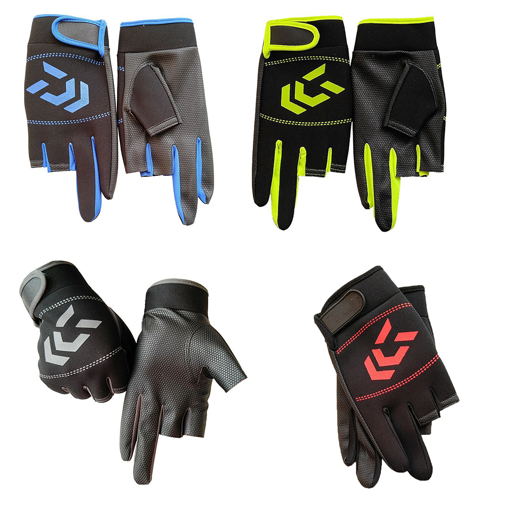 1 Pair Fishing Gloves Women Men Outdoor Fish Fishing Protection Anti-slip Angling SBR Gloves
