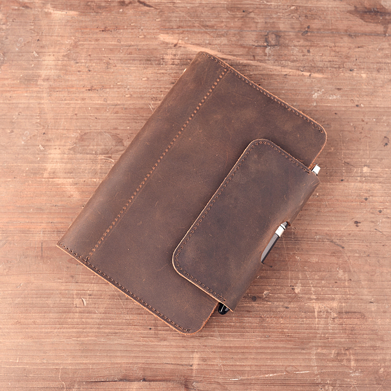 MIRUI Paperboat Vintage A5 A6 Notebook Genuine Leather Diary Planner Rings Office Diary Spiral Travelers Writing padMIRUI Paperboat Vintage A5 A6 Notebook Genuine Leather Diary Planner Rings Office Diary Spiral Travelers Writing pad
