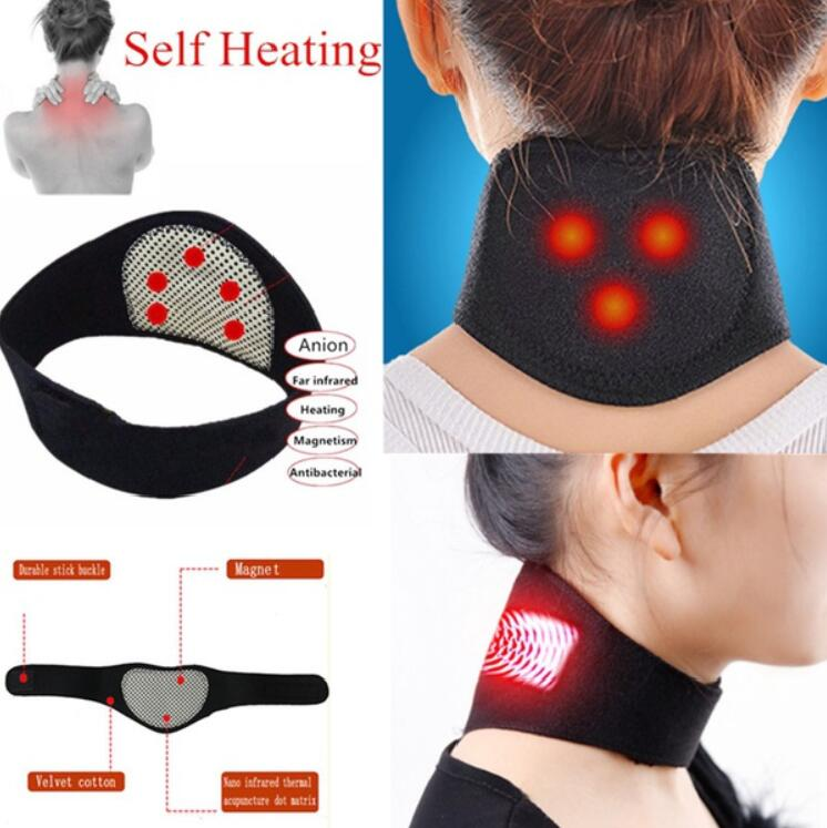 Tourmaline Magnetic Therapy Neck Massager Cervical Vertebra Protection Spontaneous Heating Belt Body Massager Face Skin Care
