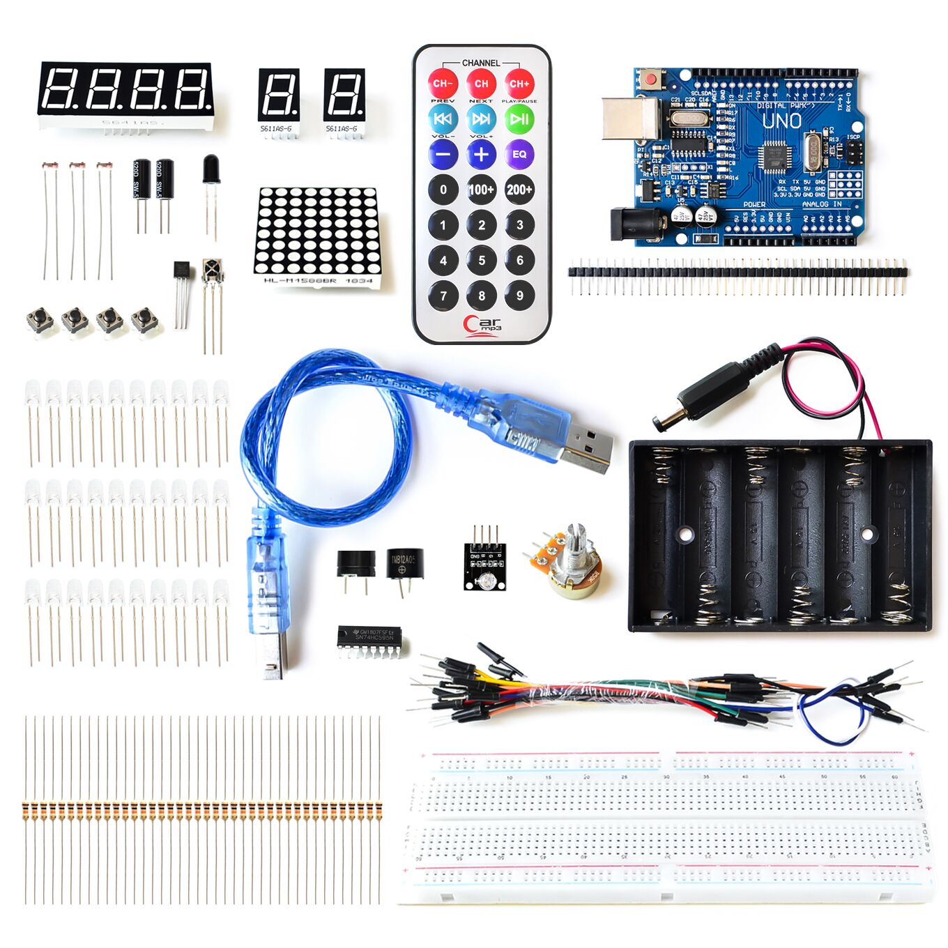 Starter Kit With UNO R3 MEGA328P+830 holes Breadboard for arduino basics DropStarter Kit With UNO R3 MEGA328P+830 holes Breadboard for arduino basics Drop