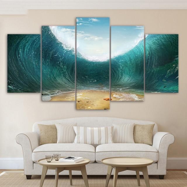 canvas schilderij wanddecoratie slaapkamer 5 stuk canvas