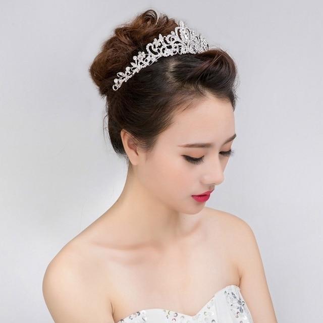 Wedding Hairstyles With Tiara And Veil: 1 Pcs New Wedding Bridal Princess Austrian Crystal Prom