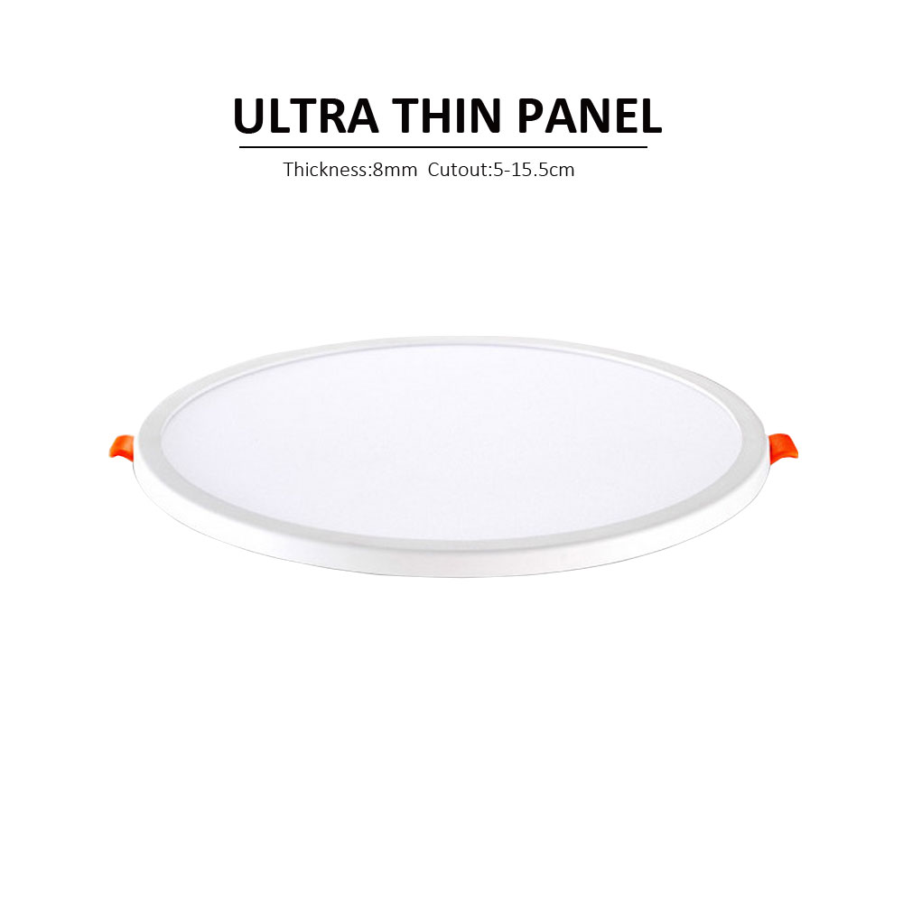High quality with cheap price led panel light 36w 600x600 ac85 265v - Round Led Panel Downlight 6w 12w 18w Ceiling Recessed Slim Led Panel Light For Kitchen Bathroom