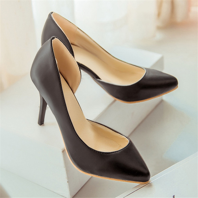 Professional women high heels 2016 spring new fashion simple and elegant banquet comfortable shoes shallow mouth