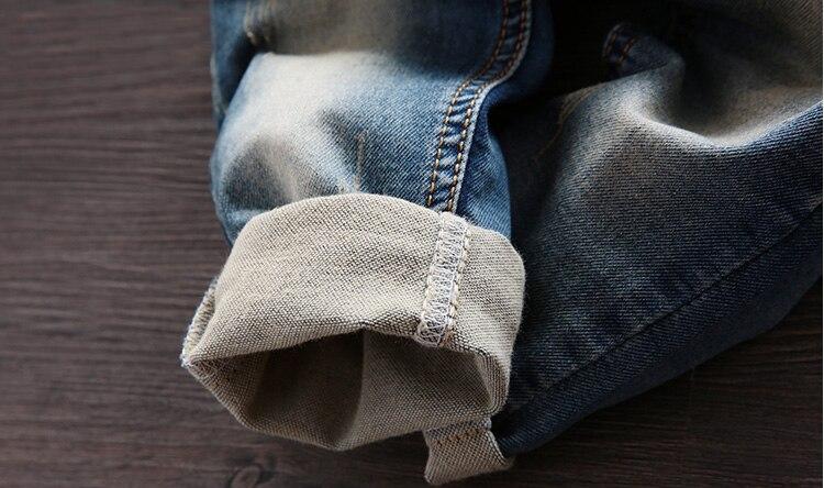 Gratis frakt 2018 vårhöst Baby pojke overaller bib barn denim byxor - Barnkläder - Foto 5