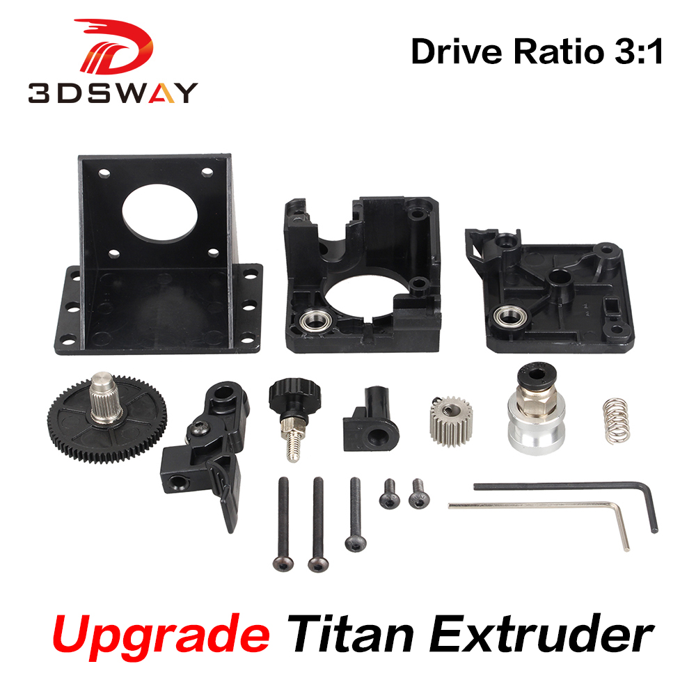 3DSWAY 3D Printer Parts Titan Extruder Fully Kits For V6 J-head Bowden Mounting Bracket 1.75mm Filament E3D V6 Hotend 3:1 Ratio