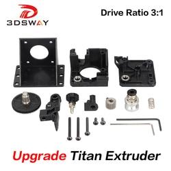 3DSWAY 3D Printer Parts Titan Extruder Fully Kits For V6 J-head Bowden Mounting Bracket 1.75mm Filament E3D V6 Hotend 3:1 Ratio