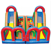 Commercial Inflatable Playground Inflatable Sport Course Double Lane Inflatable Obstacle Course