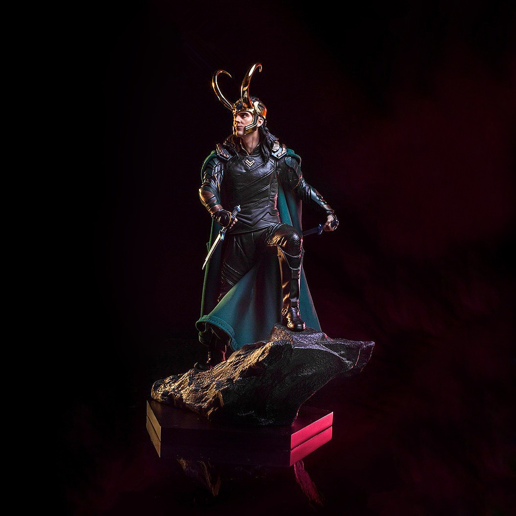 Marvel Thor: Ragnarok Loki Laufeyson Loki Odinson Loki scénario de Combat GK Statue Anime modèle jouets loisirs figurines