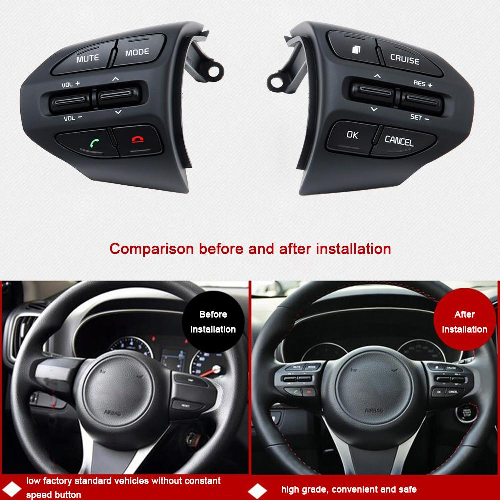 1 Set Multi-function Steering Wheel Controller DVD Navigation Button Modified Upgraded Bluetooth Call Cruise Control For Kia Kx3 cruise control steering wheel switches buttons multi function for kia kx5
