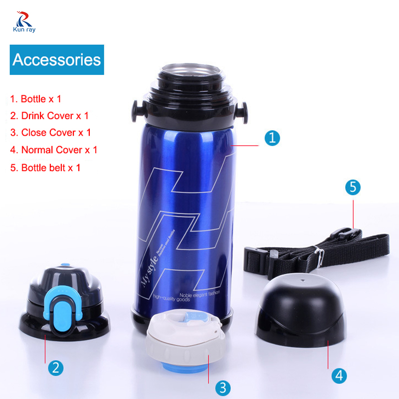 Aluminum Portable Outdoor Bicycle Bike Sports Water Bottles Drinking Kettle+Lid