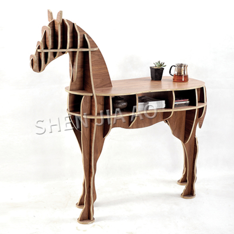 Creativo Pony mesa de Pony decoración de la Mesa de la sala de nórdicos habitación Simple arte decoración Pony Asamblea estantería 1 PC - 3