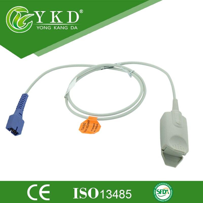 5ks / lot Doprava zdarma Adult finger clip spo2 senzor pro oximax monitor, 9pin 1m lékařské příslušenství