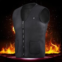 Men Women Outdoor USB Infrared Heating Vest Jackets Winter Flexible Electric Thermal Clothing Waist Coat Sleeveless Keep Warm