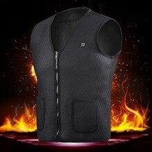 男性女性屋外 usb 赤外線加熱ベストジャケット冬柔軟な電気熱衣類ウエストコートノースリーブ保温