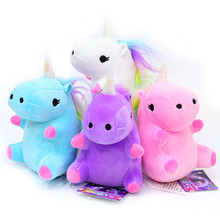 Kids Birthday Gifts 12 CM Action Figure Unicornio Soft Stuffed Plush Doll Toys Rainbow Unicorn Pendant