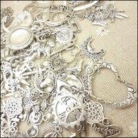 Gorący 80-250 wzór vintage charms mieszane 240 10szt antique silver plated stop metali zawieszki diy ocena biżuteria