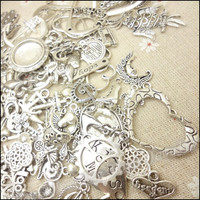 Hot 80-250 pattern Vintage Charms Mixed 240pcs Antique silver Plated Metal Alloy Pendants DIY Jewelry Findings
