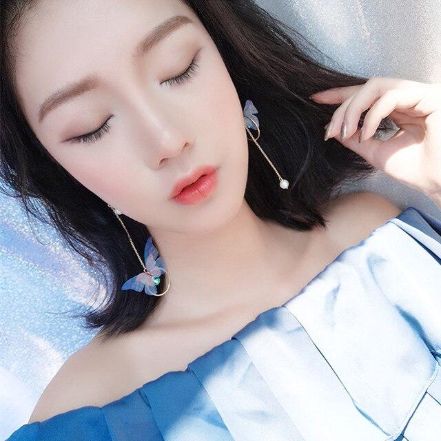 Korean Retro Asymmetric Butterfly Imitation Pearl Earrings Fashion Round Flower Brincos Long Statement Wings Earrings Jewelry.jpg 640x640 - Korean Retro Asymmetric Butterfly Imitation Pearl Earrings Fashion Round Flower Brincos Long Statement Wings Earrings Jewelry