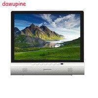 Dawupine 15 인치 LCD TV DVB-T2 사운드 바 블루투스 스피커 USB HD 1080 마력 Vedio 플레이