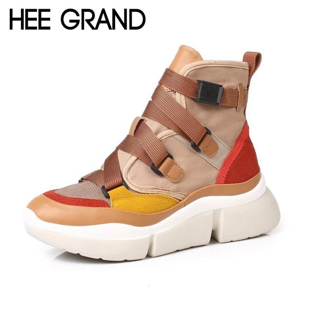 HEE GROTE 2018 Nieuwe Vrouwen Mode Laarzen met Gesp Winter Schoenen PU Leer Enkellaars Mujer Schoenen XWD6853