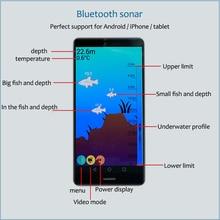 Brand New KDR Phone Bluetooth Intelligent Fish Finder Wireless Fish Visual Fishing Free Shipping