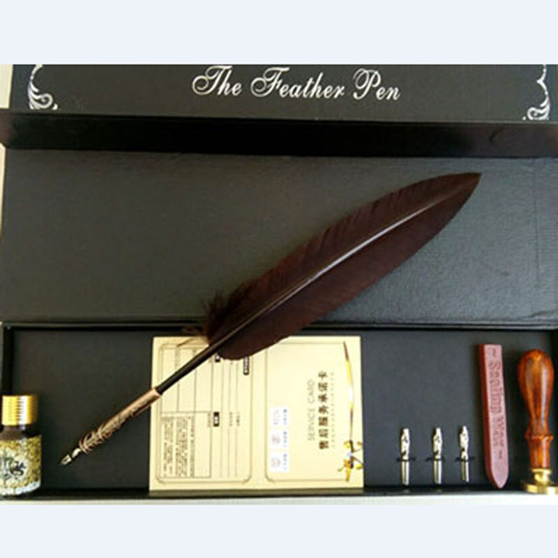 Nature Feather Dip Pen Set nature explorer box set