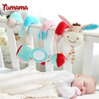 Newborn Baby Toys 0-12 Months Stuffed Stroller Toys Monkey Animal Baby Pram Bed Crib Hanging Baby Plush Rattles Mobile Toys