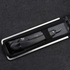 Image 3 - KUMIHO 얼굴 면도기 전통적인 이발사 면도기 나무 손잡이 얼굴 털 눈썹 수염 면도 도구