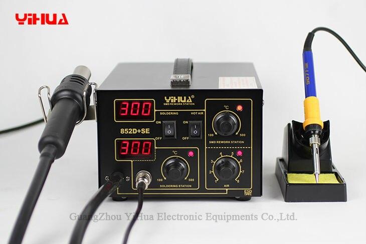 Aletler'ten Elektrikli Lehimleme Ütüleri'de YIHUA 852D + SE Diyaframlı Pompa Lehimleme İstasyonu Sıcak Hava Ithal Isıtıcı Lehimleme İstasyonu title=