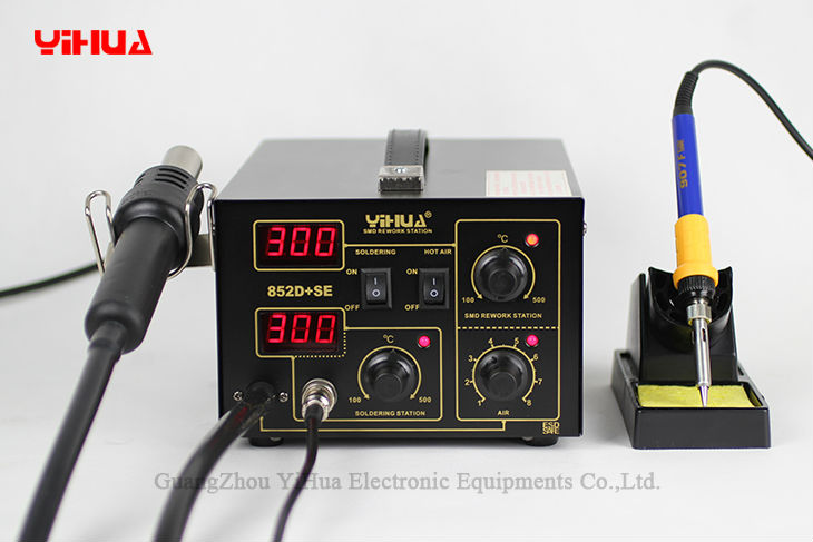 YIHUA 852D + SE Station de soudure de pompe à diaphragme Air chaud importé Station de soudure de chauffage