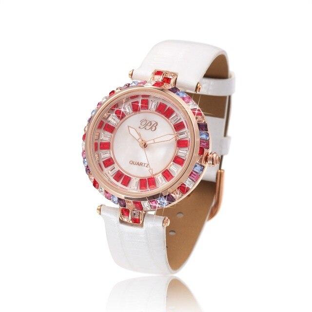 1971da22f Designer Watch UK Girls Diamond Chinese Watches Famous Full Rhinestones  Ladies Brand Wristwatch Bling Dress Orange HL538SPB PB