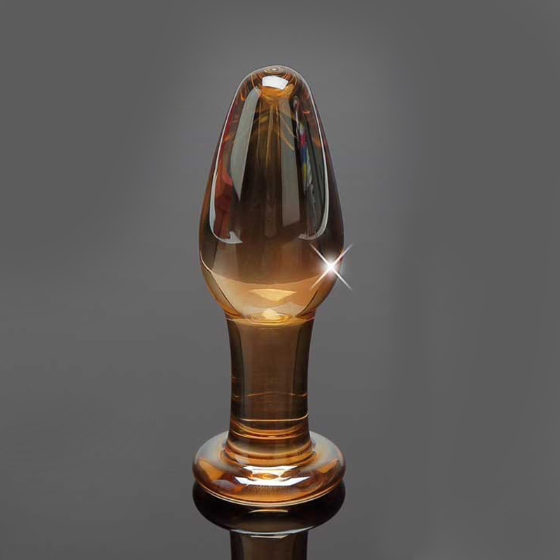 Small Crystal Glass Butt Plug Anal Insert Small Size Sexy Stopper Unisex Adult Toys